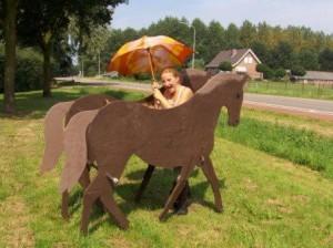 Houten paarden